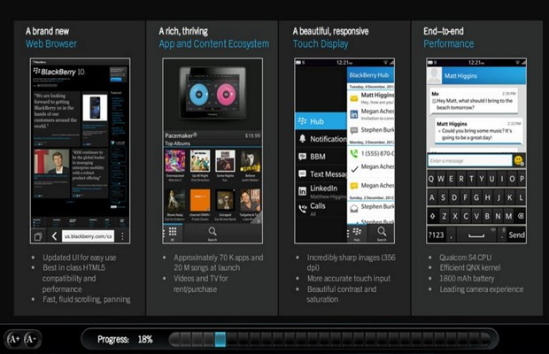 Leaked BB 10 sales training manual reveals a few more specs, promises 70K apps at launch