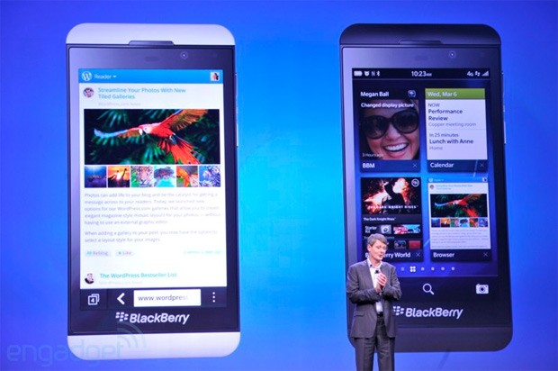 BlackBerry 10 available midMarch in the US, Feb 5th in Canada, JAN 31st in the UK