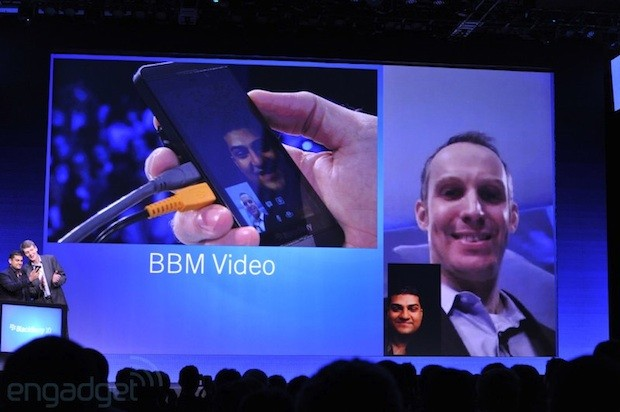 BlackBerry 10 BBM video calling demoed for first time