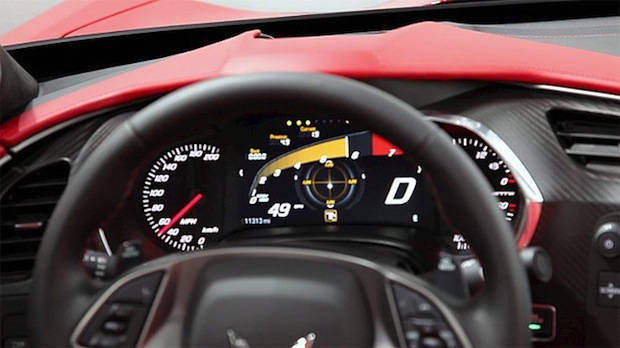 Chevrolet C7 Corvette Stingray gets new, reconfigurable instrument cluster video
