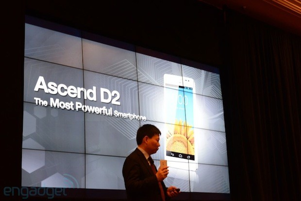 Huawei Ascend D2 official 5inch 1080p display, 15GHz quadcore CPU