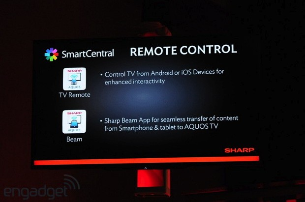 Sharp announces second screen support on iOS and Android for its Smart TVs 
