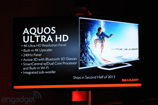 Sharp launches AQUOS Ultra HD panel for mid 2013