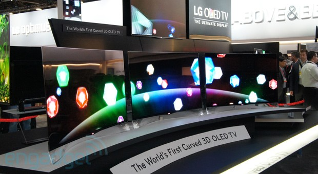 LG's curved EA9800 OLED display eyeson
