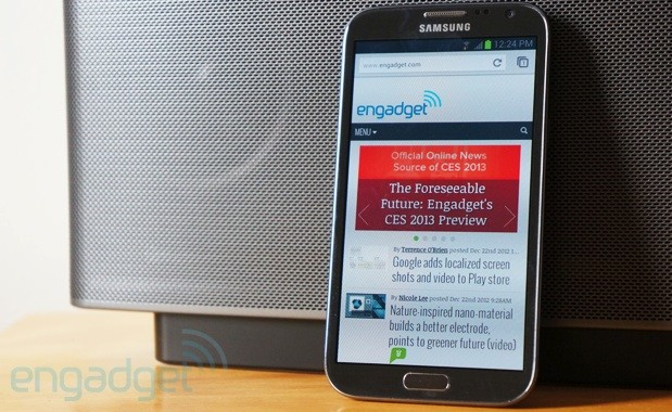 Chrome for Android on Galaxy Note II