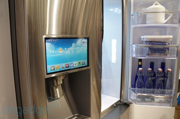 Samsung S Evernote Ready T9000 Smart Fridge Hands On