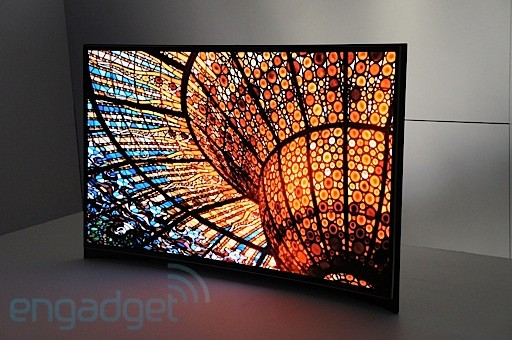 Samsung announces 'world's first' curved OLED, we go eyeson