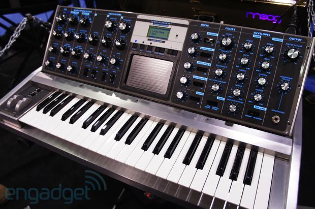 Moog shows off oneofakind Aluminum Voyager and 10th Anniversary Minimoog Voyager at NAMM eyeson