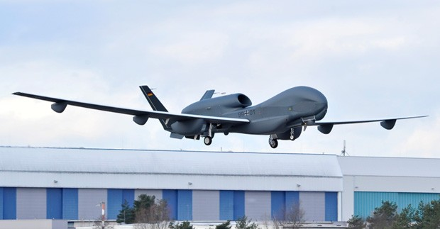 Northrop Grumman, Cassidian fly highaltitude Euro Hawk UAV for the first time video