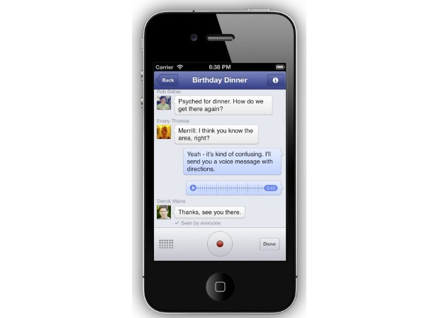Facebook adds voice recording to Messenger, testing VoIP service in Canada