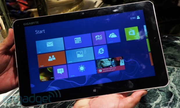 Handson with Gigabyte's S1082 and S1185 Windows 8 tablets