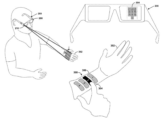 Google seeks patent for a laser projection system to control Project Glass