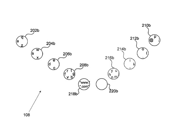 Google files patent application for touchbased, fullfinger keyboard layout