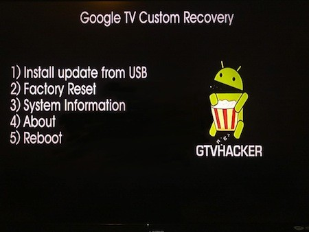 GTVHacker shows off custom recovery for Google TVs video