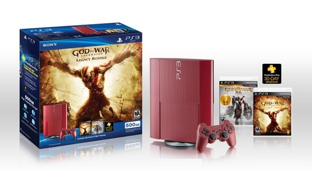 Garnet red PlayStation 3 bundled with God of War Ascension and 500GB HDD arrives this March for $349