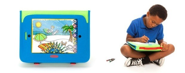 Griffin and Crayola intro contactfree Light Marker, drawing workstations