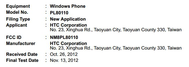 Sprint's first Windows Phone 8 device hits the FCC in HTC garb