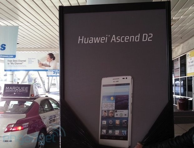 Huawei's Ascend D2 confirmed by uncovered billboard at CES