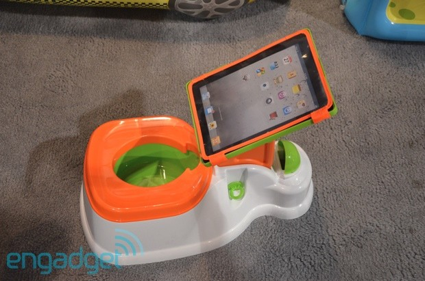 Crapgadget CES, round one: the iPotty iPad dock