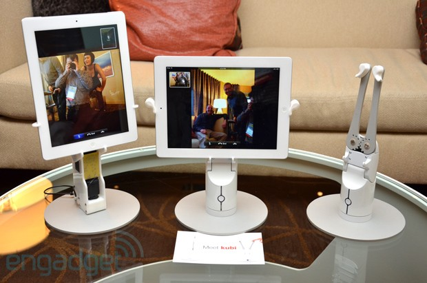 Revolve Robotics' KUBI spins your tablet around for teleconferences, we go handson