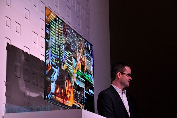 LG's 55inch OLED display, eyeson