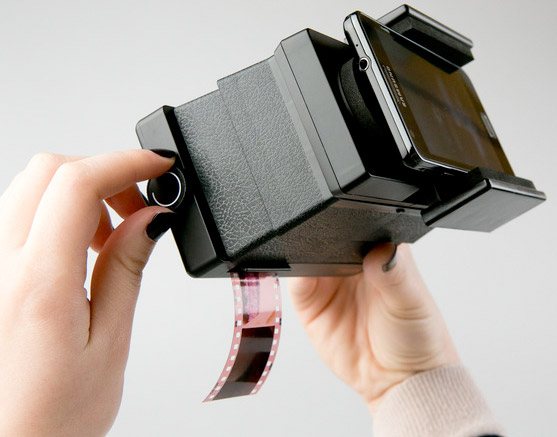 Insert Coin Lomography Smartphone Film Scanner does as its name implies