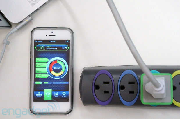 MeterPlug Bluetooth power monitor tracks usage, sends stats to your smartphone handson video