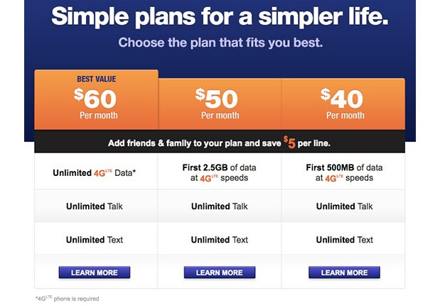 MetroPCS unveils 'simpler' 4G plans with unlimited data, text and talk for $60