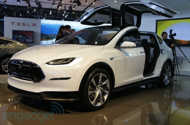 Tesla Model X SUV handson video