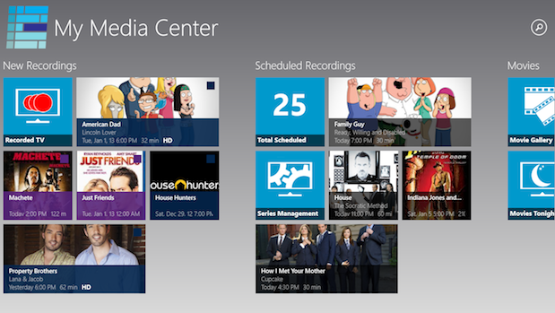 Ceton Companion becomes My Media Center and is available for Windows 8