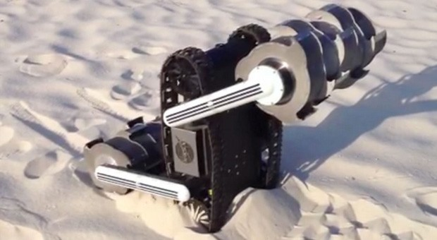 NASA's RASSOR excavator robot shapeshifts to haul lunar soil, help make fuel and water
