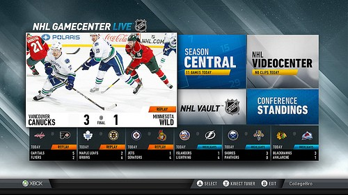 Microsoft announces NHL GameCenter availability on Xbox Live