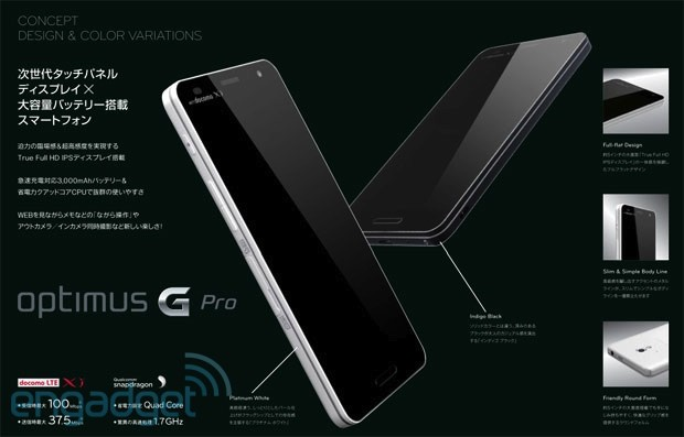 LG's Optimus Pro revealed in leaked image with a 5inch display, Jelly Bean and LTE