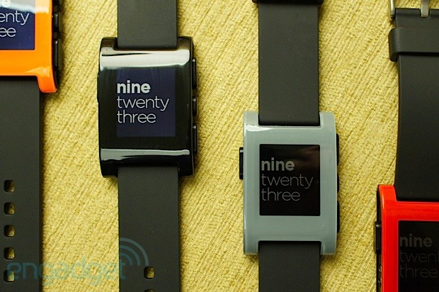 Pebble smartwatch handson video