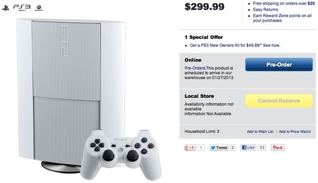 White PlayStation 3 bundle surfaces unannounced at Canadian retailers