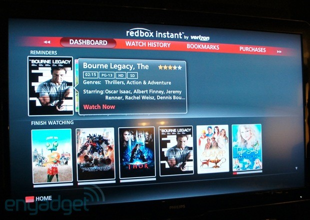 More Redbox Instant details revealed at CES Vizio, LG and Google TV clients coming