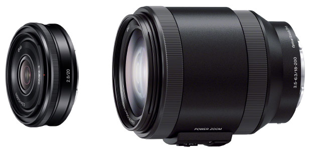 Sony grows Emount lens collection to 13 with 20mm pancake, 18200mm power zoom