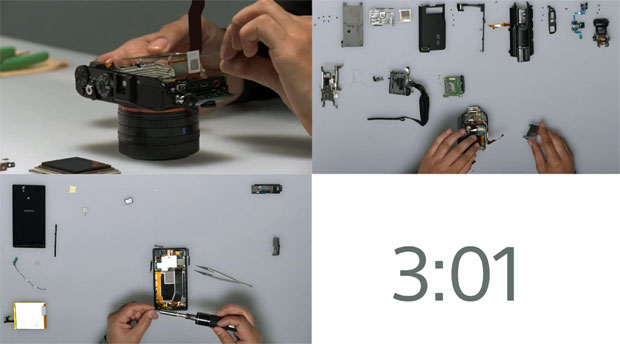 Sony handcrafts its CES products in reverse-teardown (video)