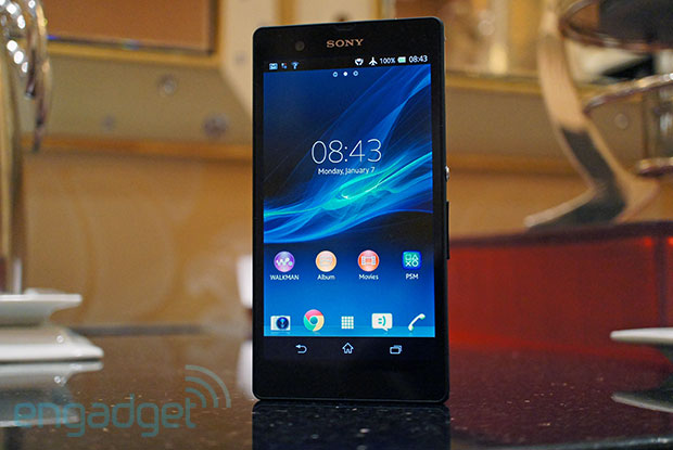 Sony Xperia Z handson with the new flagship at CES 2013