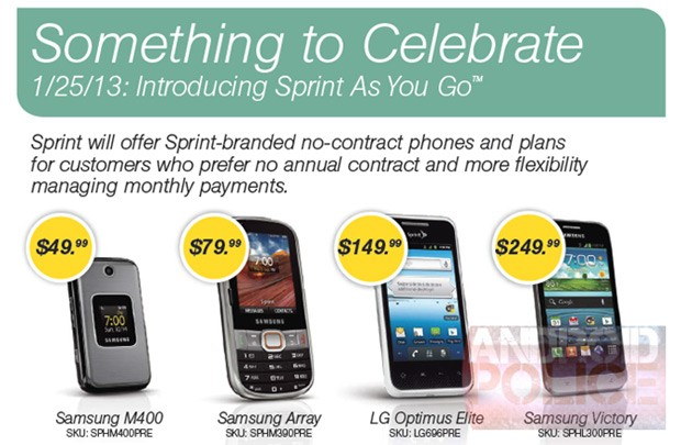 Sprint to launch pay as you go service with four handsets, all you can eat from $70