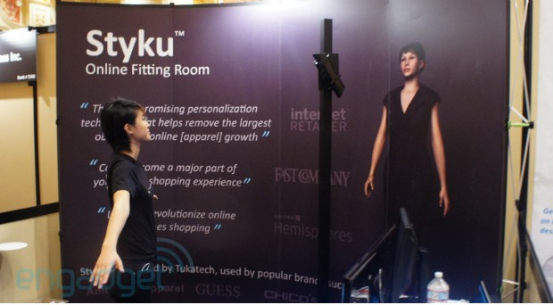 DNP Styku virtual fitting room body scan video