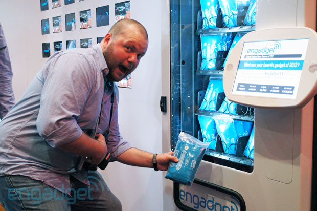 How to get your Engadget tee at our CES vending machine a guide