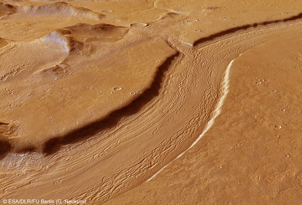 Visualized On Mars, Rivers are deep, mountains remain high