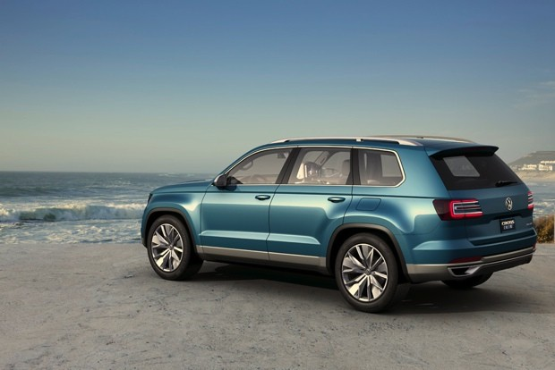 VW displays CrossBlue plugin SUV concept with iPad mini headrests and 85MPGe efficiency