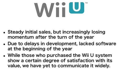 Nintendo's Iwata acknowledges slow Wii U sales, but no price drop is coming