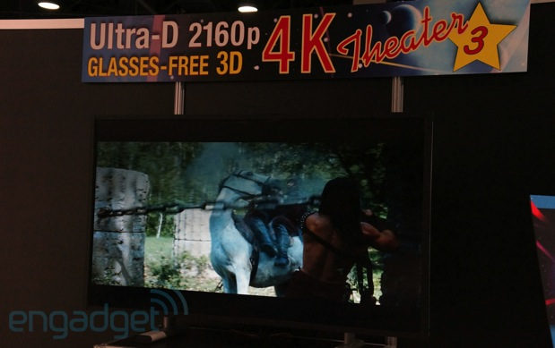Stream TV glassesfree 4K 3D eyes on video