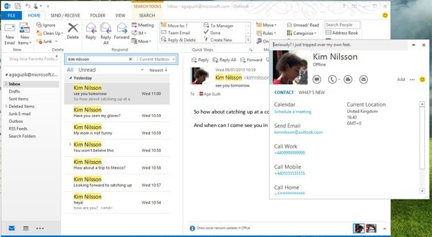 Skype 61 for Windows adds Outlook integration, slightly refreshed toolbar