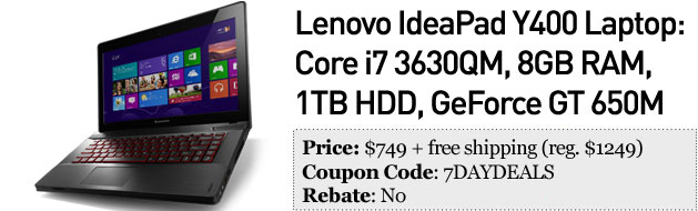 Slickdeals' best in tech for February 13th Lenovo IdeaPad Y400, SSDs and PogoPlug Plus