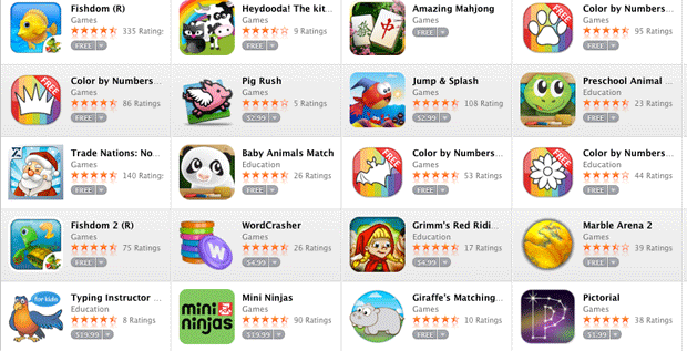 App Store apps for kids