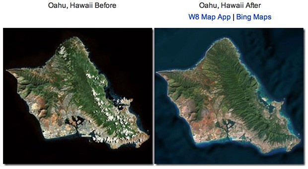 Bing Maps revamped with ocean topography, updated satellite imagery